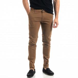 Slim fit Chino мъжки панталон цвят камел