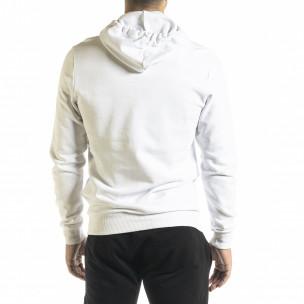 Basic мъжки суичър в бяло 2