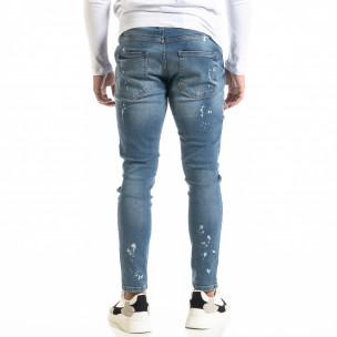 Мъжки сини дънки Destroyed Bleach  2