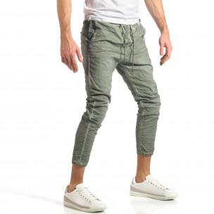 Мъжки зелен лек панталон на малки точици  2