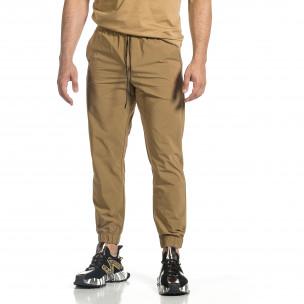 Мъжки шушляков панталон Jogger цвят каки  2