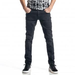 Long Slim мъжки черни дънки Blackzi