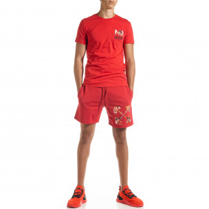 Червен мъжки спортен комплект Naruto North's 2