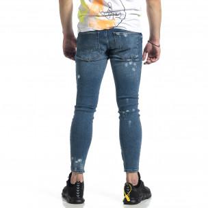 Bleach сини дънки с ципове на крачолите  2