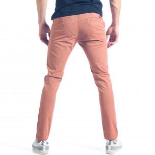 Мъжки розов панталон с малки детайли по плата  2