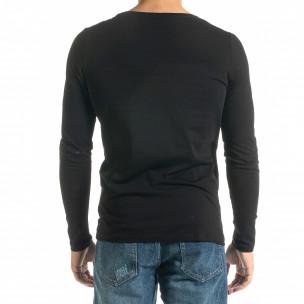 Мъжка черна блуза  Mickey Gloves 2