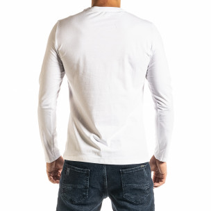 Мъжка бяла блуза Jeans Sport 2