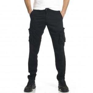 Мъжки черен панталон с прави крачоли & Big Size