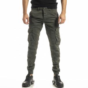 Зелен мъжки панталон Cargo Jogger