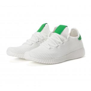 Мъжки зелено-бели леки маратонки 2