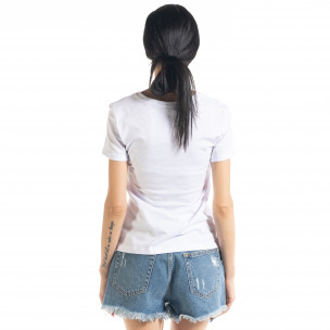 Дамска бяла тениска Summer Butterfly  2