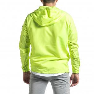 Ветробранно яке анорак неоново зелено 2