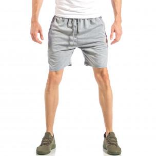Мъжки сиви шорти с лого MA