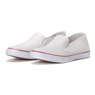 Мъжки класически slip-on кецове в бяло. Размер 44  2