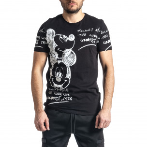 Мъжка черна тениска Mickey