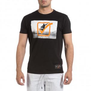 Мъжка черна тениска Givova