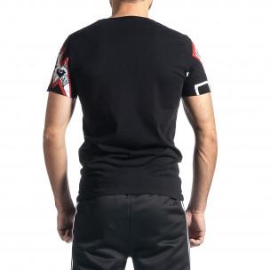 Мъжка черна тениска Thunder 2