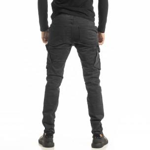 Мъжки сив Cargo панталон с прави крачоли  2