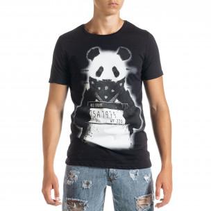 Мъжка тениска Panda Criminal в черно