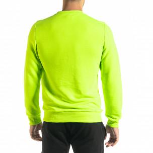 Basic мъжка памучна блуза неоново зелено 2