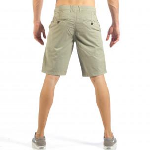Мъжки бежови къси панталони с италиански джобове  2