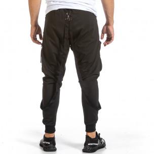Hip Hop черно долнище с обемни джобове 2