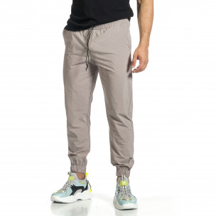 Мъжки шушляков панталон Jogger в сиво