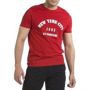 Мъжка червена тениска New York City