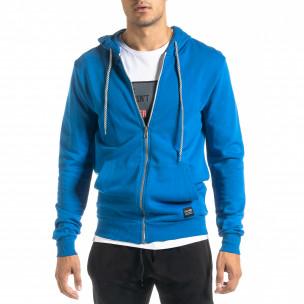 Basic мъжки суичър в синьо