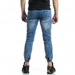 Мъжки сини дънки тип Jogger   2