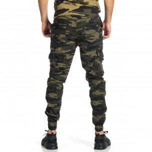 Мъжки карго панталон зелен камуфлаж  2