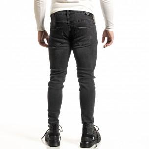 Черни дънки с леко избелял ефект Capri fit 2