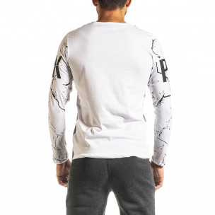 Мъжка бяла блуза PUNK 2
