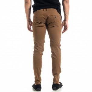Slim fit Chino мъжки панталон цвят камел  2