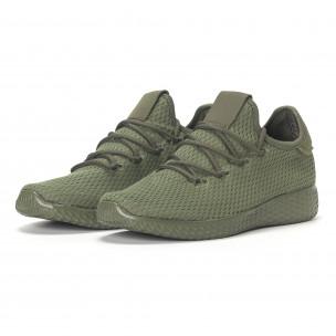 Мъжки зелени леки маратонки All-green 2