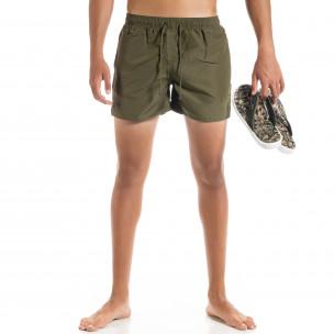 Basic мъжки бански милитъри зелено