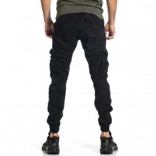 Мъжки черен карго панталон Jogger & Big Size  2