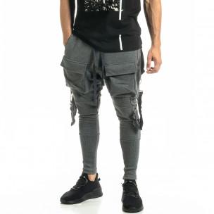 Трикотажен сив панталон Hip Hop Jogger 2