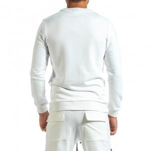 Мъжка ватирана бяла блуза  2