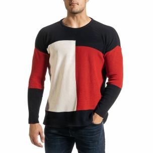 Oversize пуловер с цветни блокове