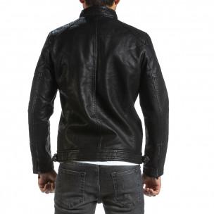 Рокерско черно кожено яке & Big Size Itenly 2