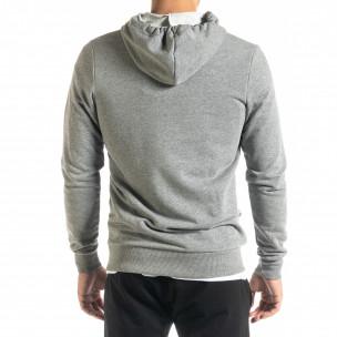 Basic мъжки суичър в сиво  2