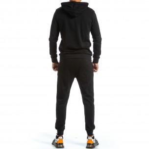 Basic мъжки черен спортен комплект от памук  2