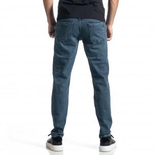 Long Slim дънки плътен деним в синьо  2