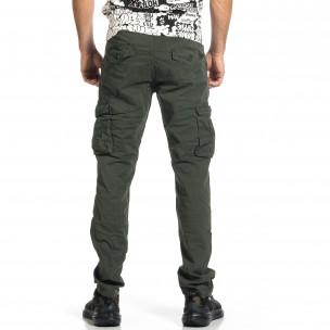 Мъжки зелен панталон с прави крачоли & Big Size 2
