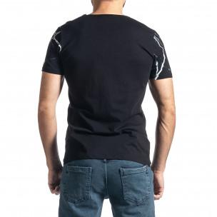 Мъжка черна тениска Famous 2