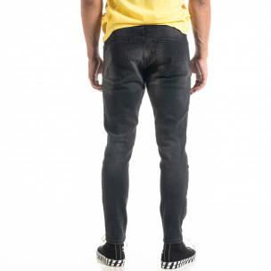 Мъжки черни дънки White Yellow Paint  2