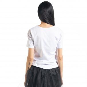 Дамска бяла тениска My Universe  2