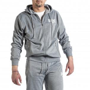 Мъжки светлосив спортен комплект Big Size New Style 2