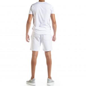 Бял мъжки спортен комплект Moon 2